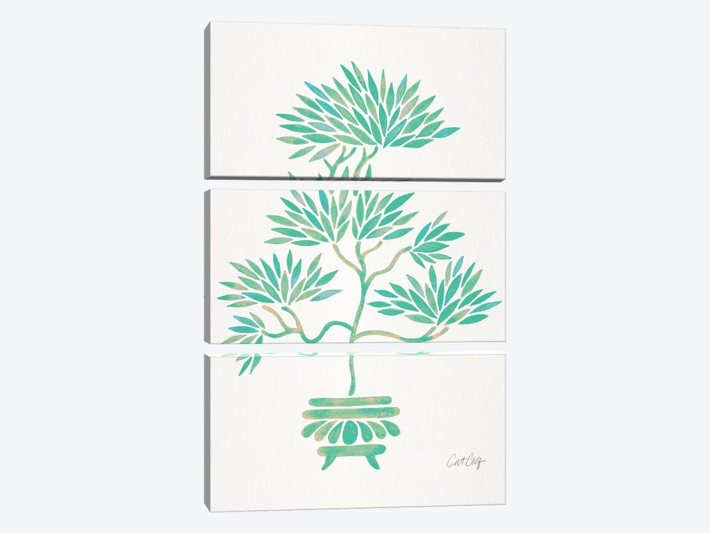 Turquoise Bonsai by Cat Coquillette 3-piece Art Print