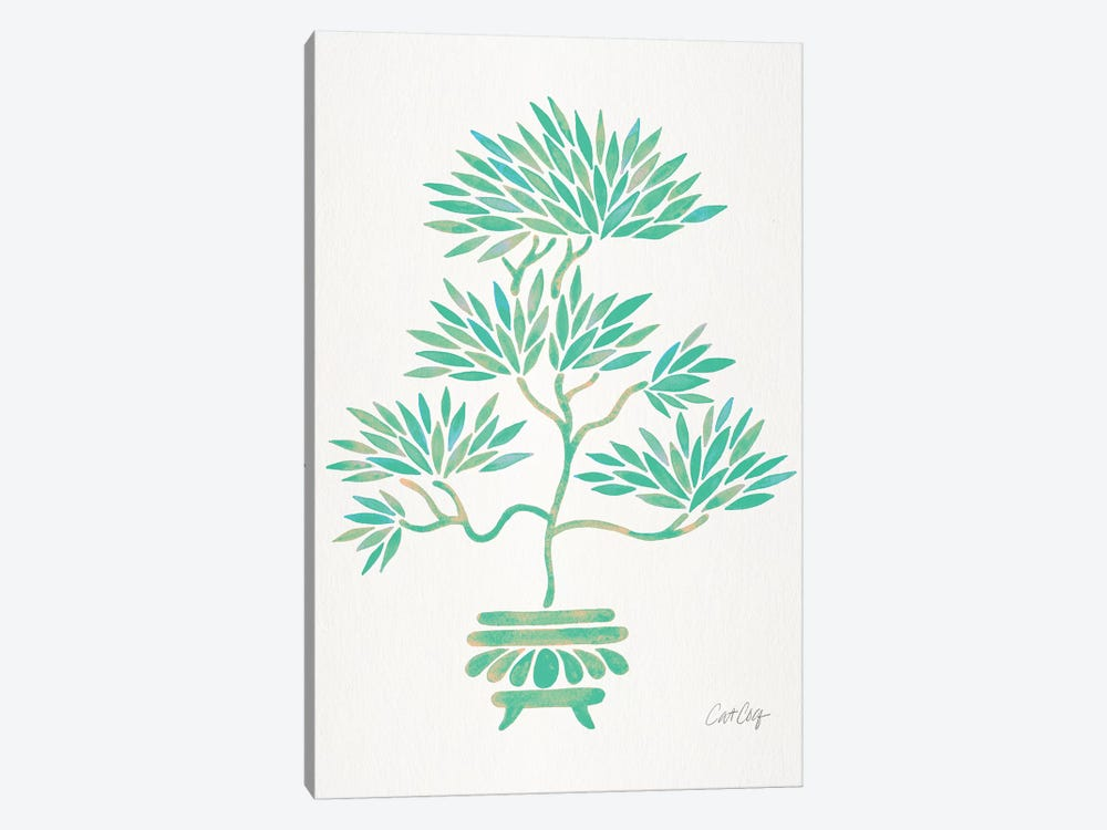 Turquoise Bonsai by Cat Coquillette 1-piece Canvas Print