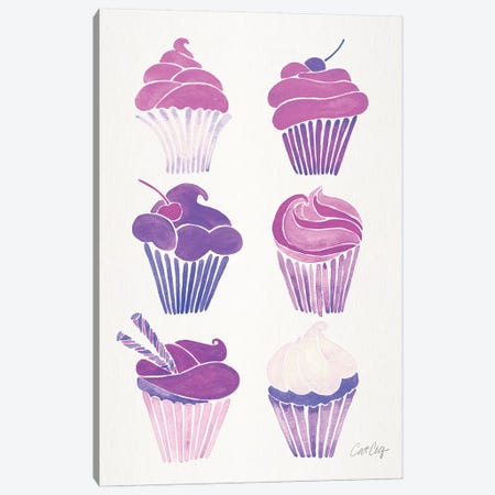 Unicorn Cupcakes Canvas Print #CCE443} by Cat Coquillette Canvas Print