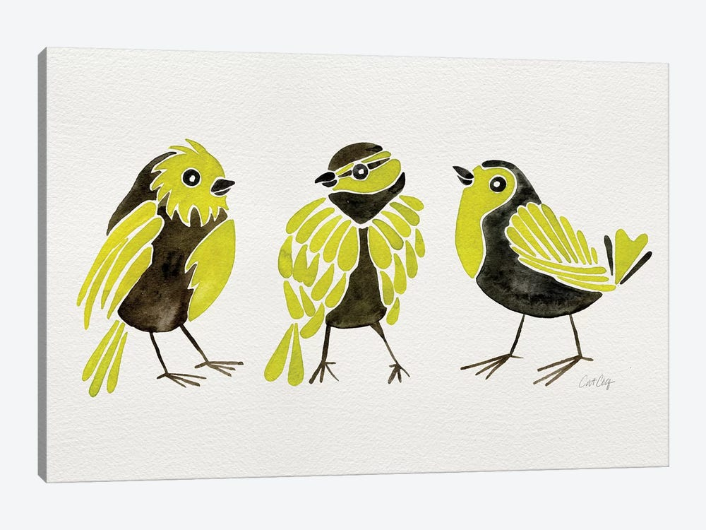 Yellow Finches by Cat Coquillette 1-piece Canvas Art