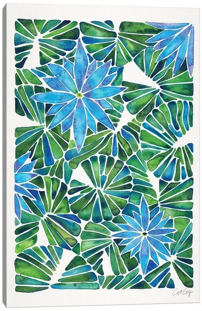 Blue Green - Water Lilies Canvas Art Print
