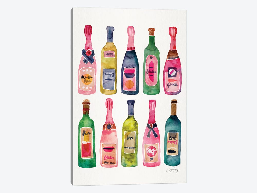 Champagne by Cat Coquillette 1-piece Canvas Print
