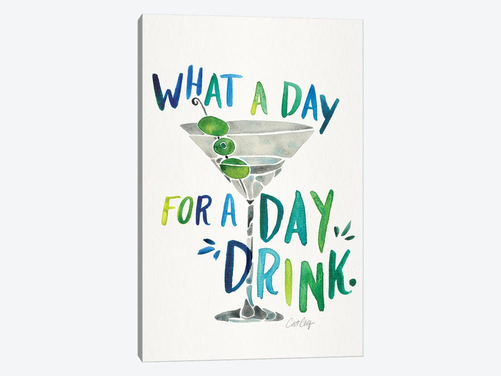 Green Blue - Day Drink 1-piece Canvas Wall Art