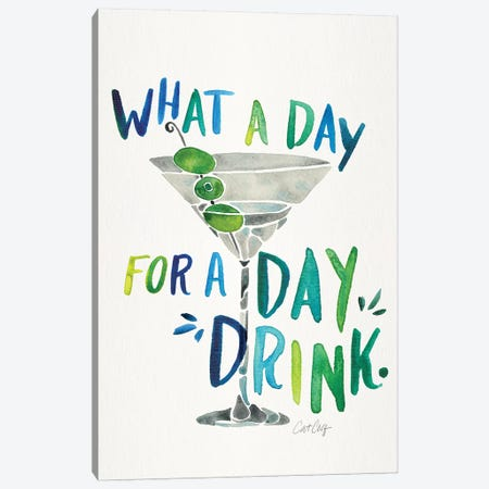 Green Blue - Day Drink Canvas Print #CCE461} by Cat Coquillette Canvas Art Print