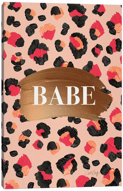 Hot Pink - Babe Canvas Art Print