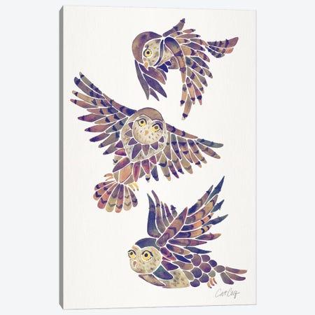 Mauve - Owls Canvas Print #CCE466} by Cat Coquillette Canvas Art
