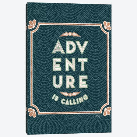 Mint Teal - Adventure Is Calling Mosaic Canvas Print #CCE470} by Cat Coquillette Canvas Artwork