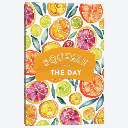 Multi-Squeeze The Day Canvas Print #CCE472} by Cat Coquillette Canvas Wall Art