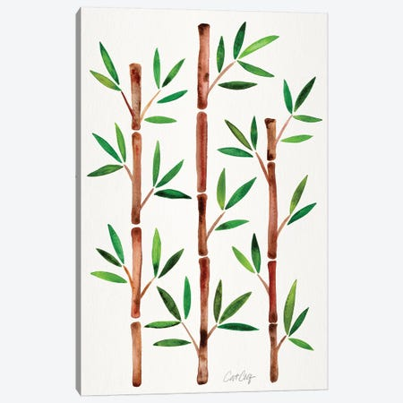 Original - Bamboo 3-Piece Canvas #CCE474} by Cat Coquillette Canvas Art Print