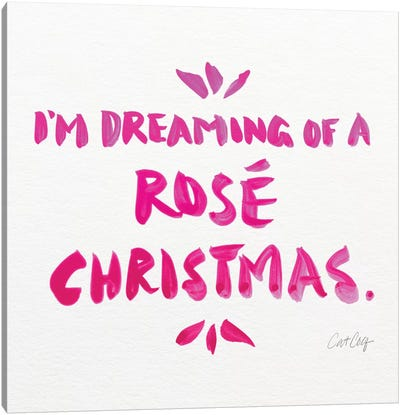 Pink - Rose Christmas Canvas Art Print