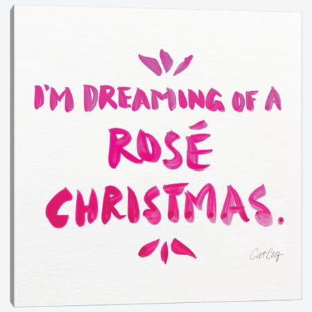 Pink - Rose Christmas Canvas Print #CCE479} by Cat Coquillette Canvas Art