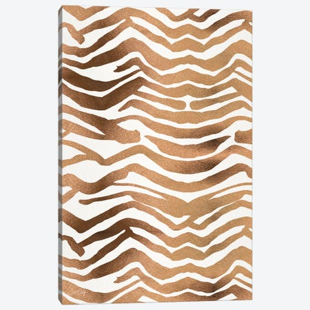 Rose Gold - Zebra Print Canvas Print #CCE485} by Cat Coquillette Canvas Wall Art