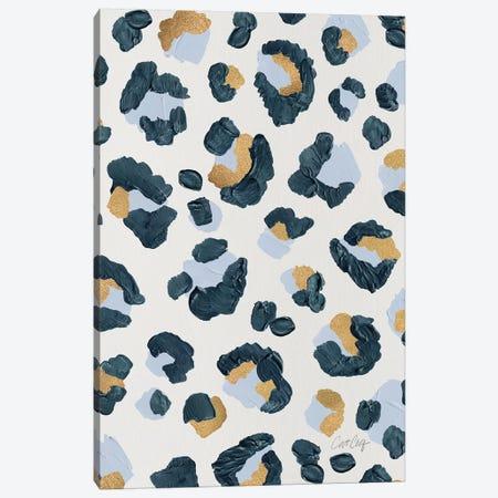 Snow Leopard - Leopard Print Canvas Print #CCE487} by Cat Coquillette Canvas Art