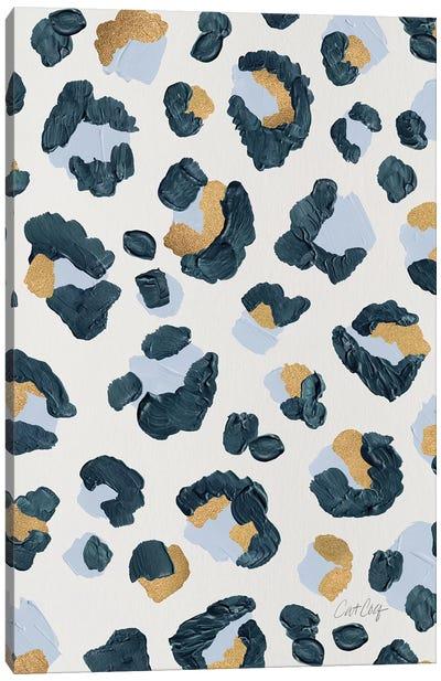 Snow Leopard - Leopard Print Canvas Art Print