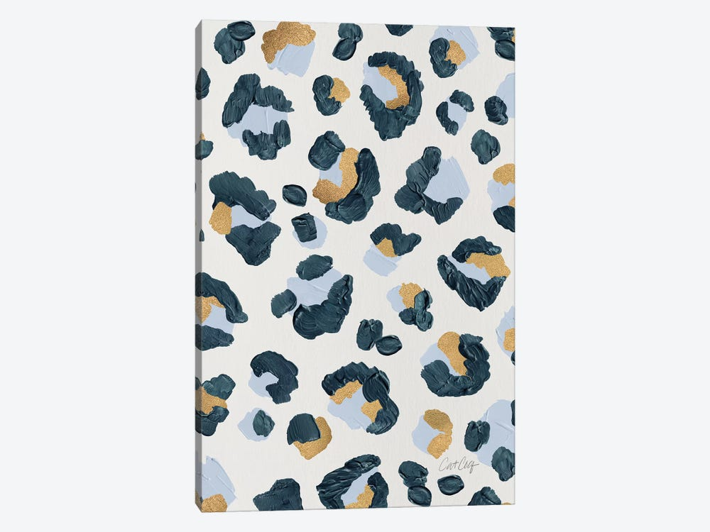 Snow Leopard - Leopard Print by Cat Coquillette 1-piece Canvas Artwork