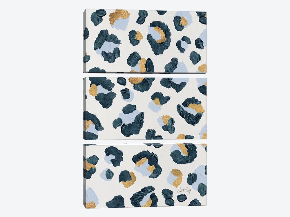 Snow Leopard - Leopard Print by Cat Coquillette 3-piece Canvas Wall Art