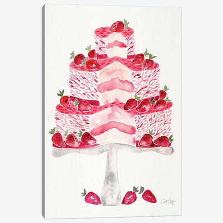 Strawberry Short Cake Canvas Print #CCE488} by Cat Coquillette Canvas Art Print