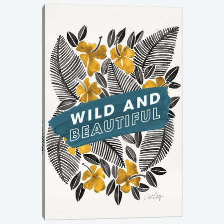 Yellow Blue - Wild And Beautiful Canvas Print #CCE494} by Cat Coquillette Canvas Print