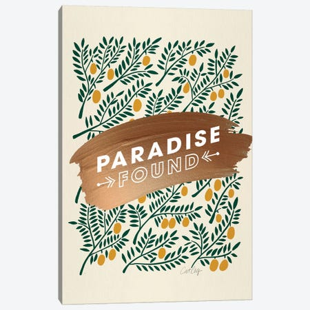 Yellow - Paradise Found  Canvas Print #CCE495} by Cat Coquillette Canvas Print