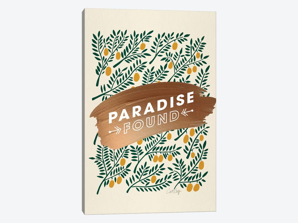 Yellow - Paradise Found  by Cat Coquillette 1-piece Art Print