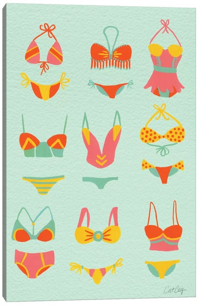 Bikini Mint Artprint Canvas Art Print