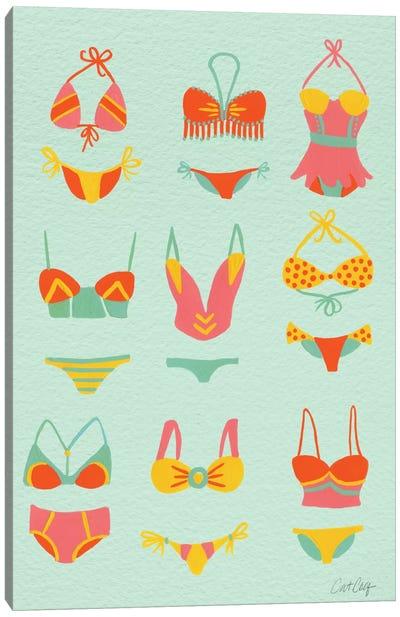 Bikini Mint Artprint Canvas Print #CCE60