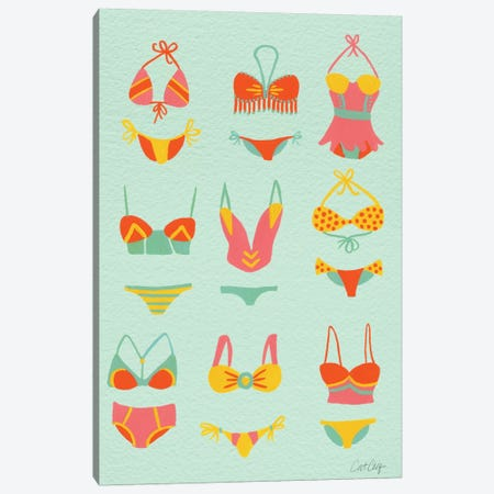 Bikini Mint Canvas Print #CCE60} by Cat Coquillette Canvas Artwork