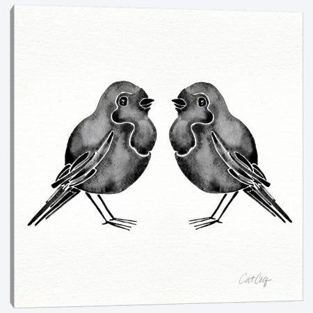 Black Birds Canvas Print #CCE62} by Cat Coquillette Canvas Artwork