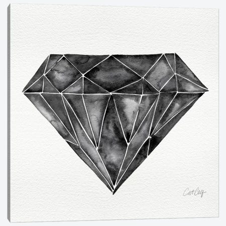 Black Diamond Artprint Canvas Print #CCE63} by Cat Coquillette Canvas Art