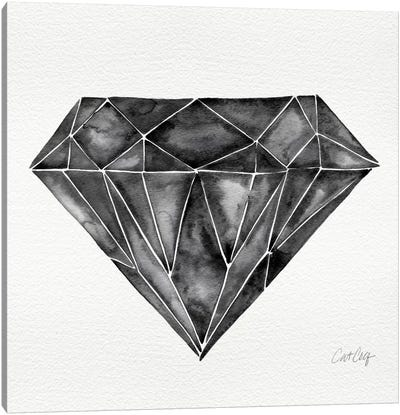 Black Diamond Artprint Canvas Print #CCE63
