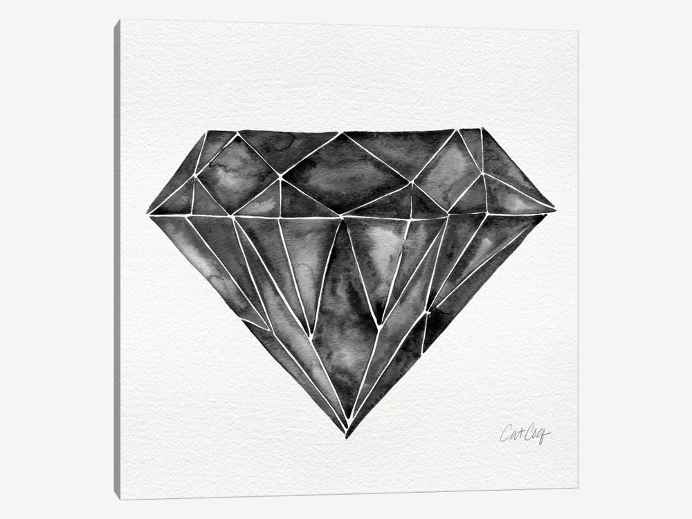 Black Diamond Artprint by Cat Coquillette 1-piece Canvas Art