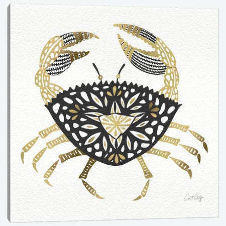 Black Gold Crab Canvas Print #CCE65} by Cat Coquillette Canvas Print
