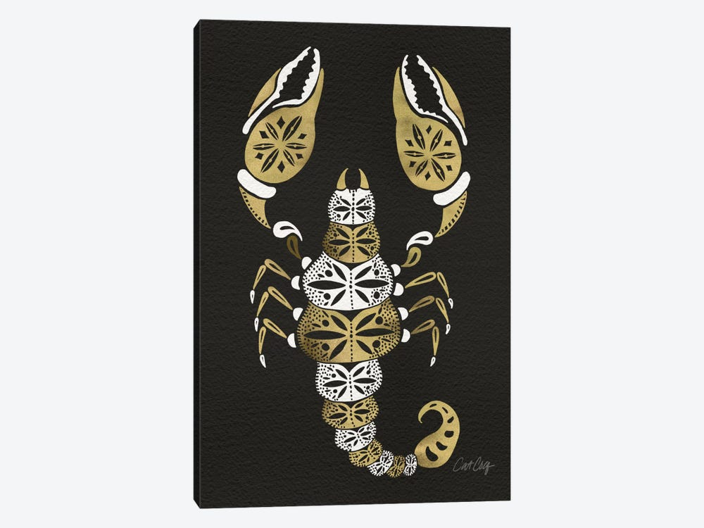 Black Gold Scorpion by Cat Coquillette 1-piece Canvas Art Print
