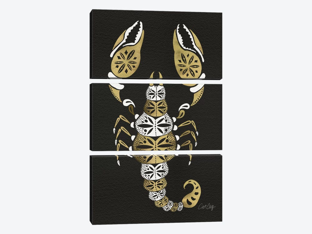 Black Gold Scorpion by Cat Coquillette 3-piece Art Print
