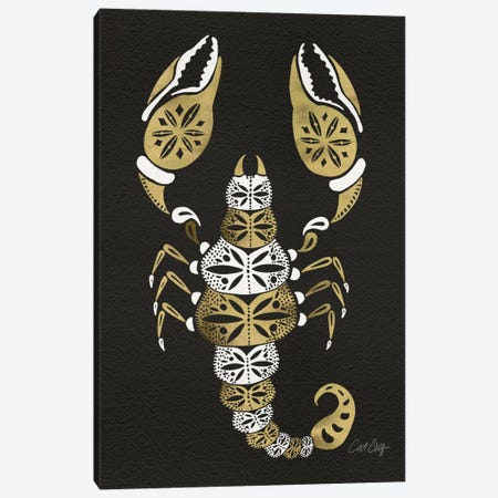 Black Gold Scorpion 3-Piece Canvas #CCE66} by Cat Coquillette Canvas Print