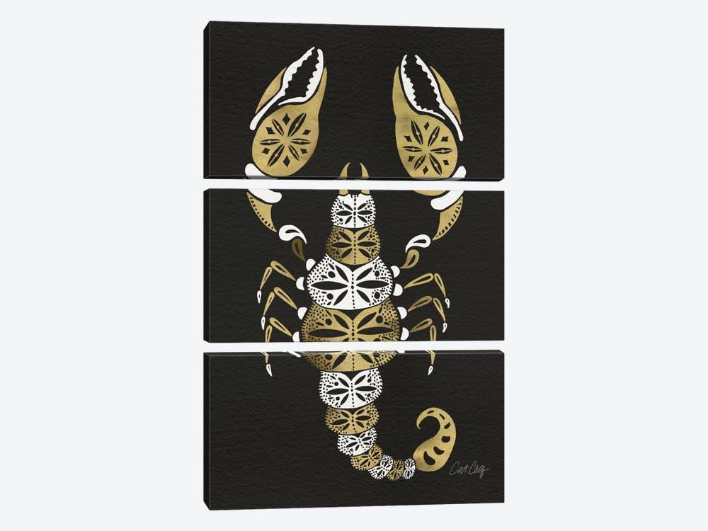 Black Gold Scorpion by Cat Coquillette 3-piece Art Print