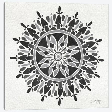 Black Mandala Artprint Canvas Print #CCE68} by Cat Coquillette Canvas Wall Art