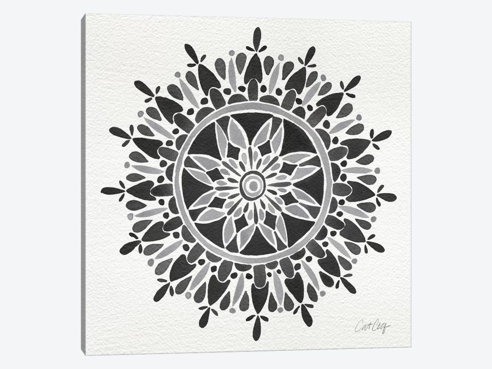 Black Mandala Artprint by Cat Coquillette 1-piece Canvas Print