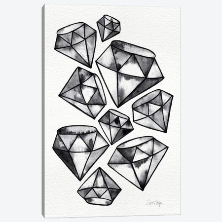 Black Tattoo Diamonds Canvas Print #CCE70} by Cat Coquillette Canvas Print
