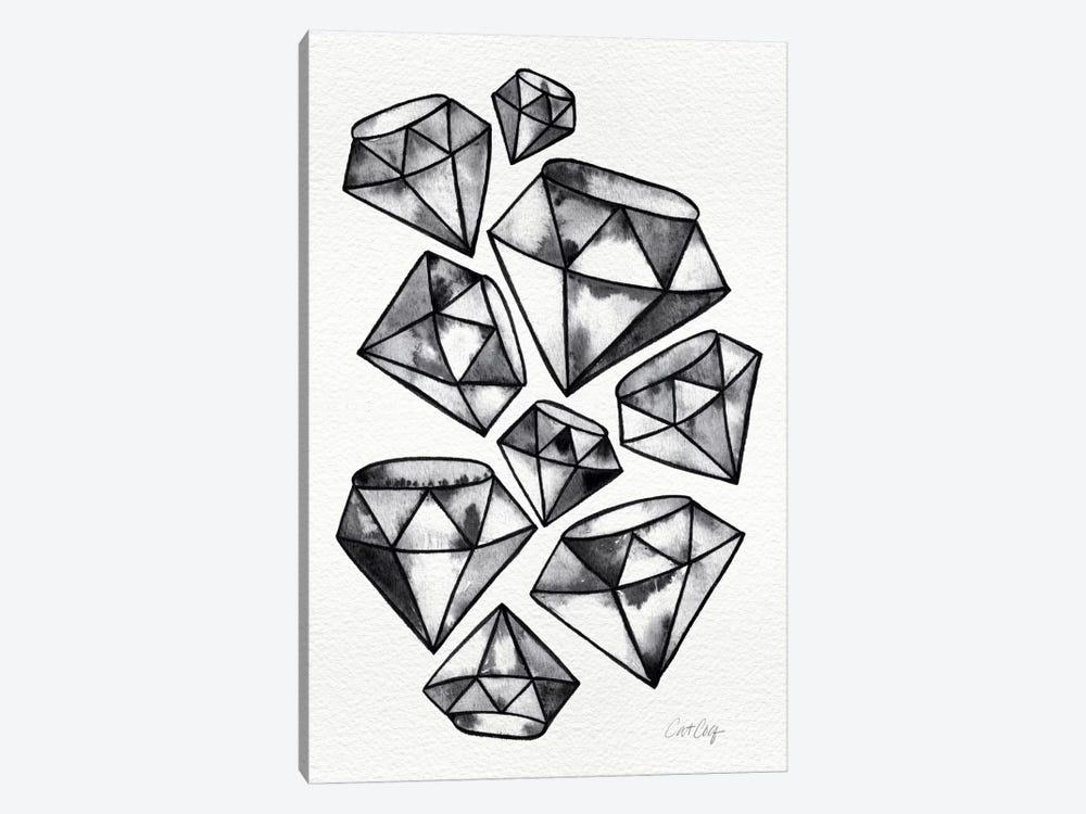 Black Tattoo Diamonds by Cat Coquillette 1-piece Canvas Art
