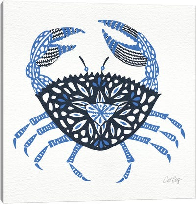 Blue Crab Artprint Canvas Print #CCE75