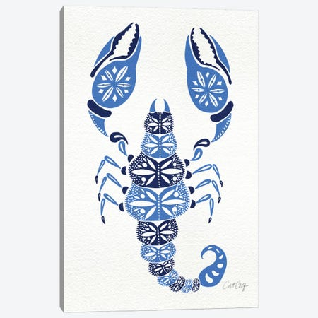 Blues Scorpion Artprint Canvas Print #CCE80} by Cat Coquillette Canvas Artwork
