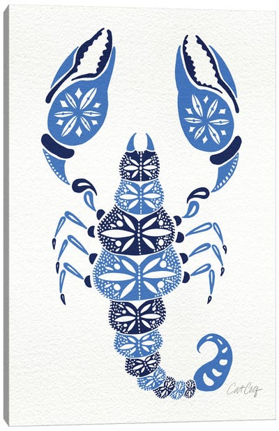 Blues Scorpion Artprint Canvas Art Print