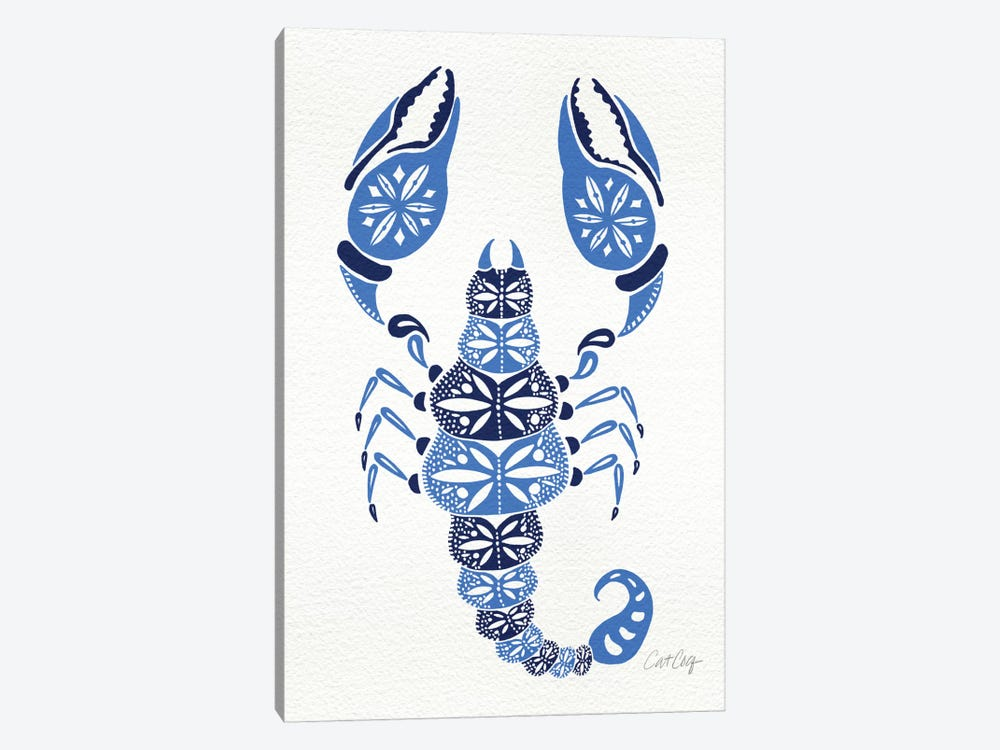 Blues Scorpion Artprint by Cat Coquillette 1-piece Art Print