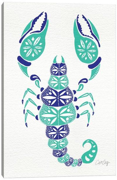 Blue Turquoise Scorpion Canvas Art Print