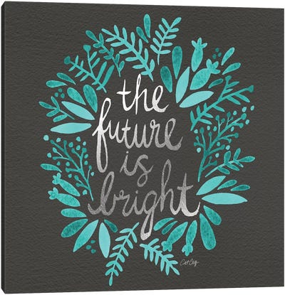 Bright Future Charcoal Artprint Canvas Art Print