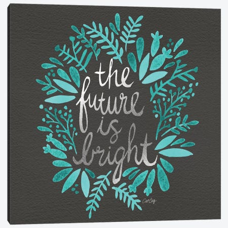 Bright Future Charcoal Canvas Print #CCE88} by Cat Coquillette Canvas Wall Art