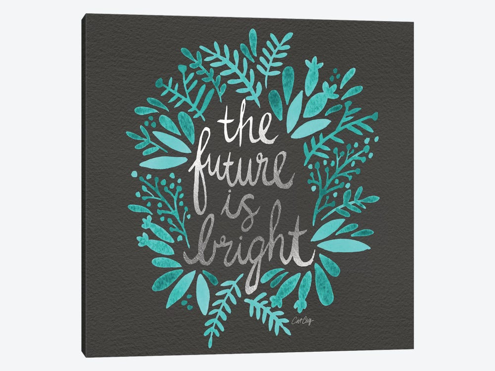 Bright Future Charcoal by Cat Coquillette 1-piece Art Print