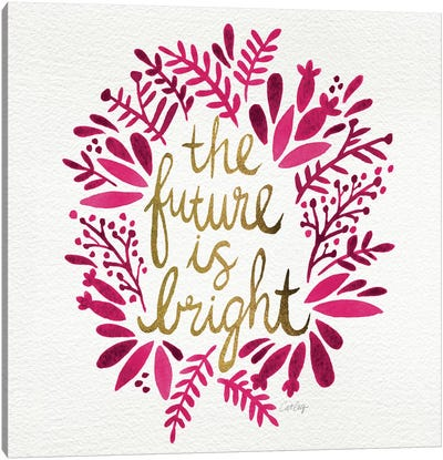 Bright Future Pink Artprint Canvas Print #CCE91