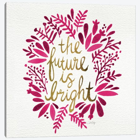 Bright Future Pink Canvas Print #CCE91} by Cat Coquillette Canvas Print
